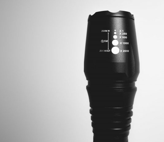 front view of nitehawk tactical flashlight