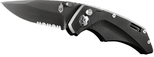 Gerber Contrast Knife, Assisted Opening, Serrated Edge