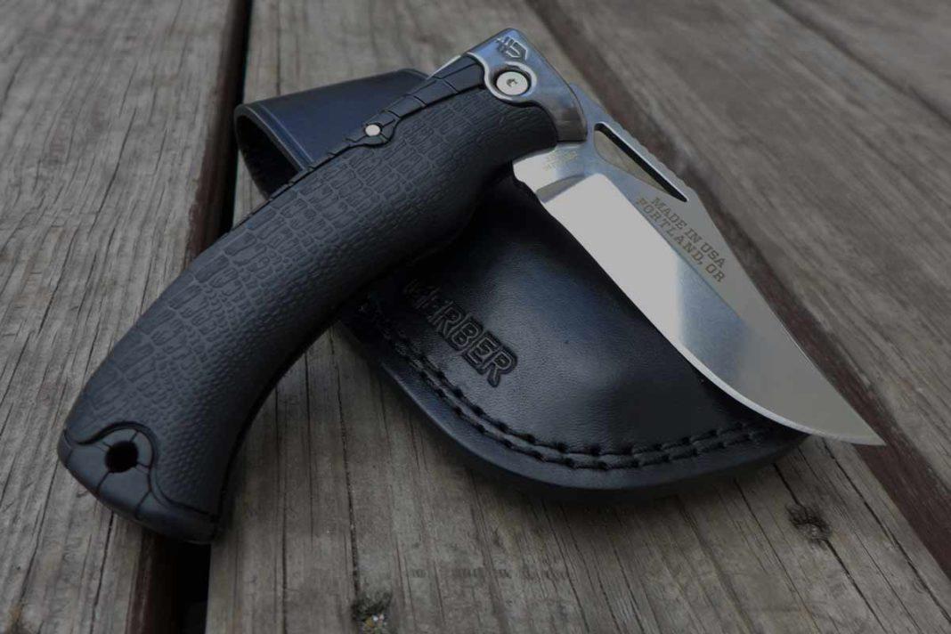 Gerber Hunting Knife on table