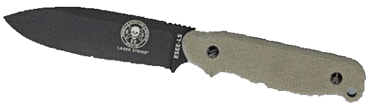 Laser Strike Fixed Blade Knife with Canvas Micarta Handles