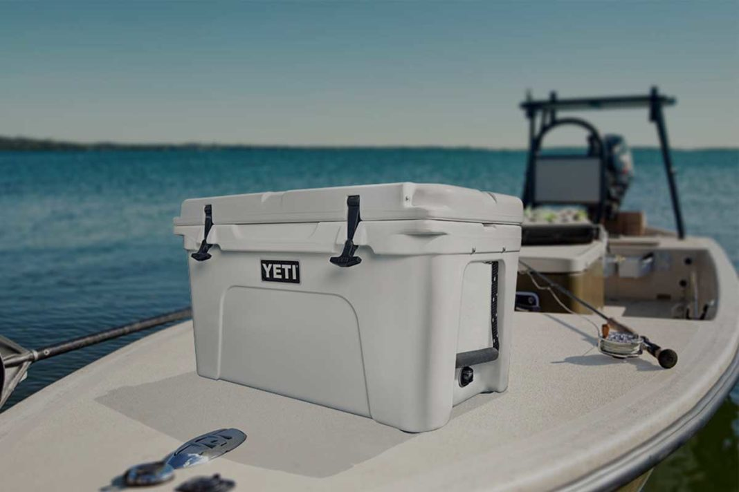 best cooler sitting on boat