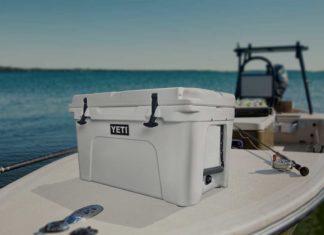 best cooler sitting on boat