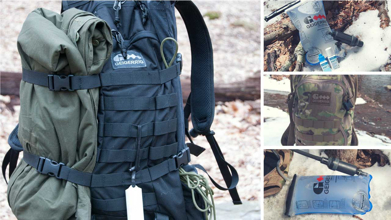 Aquamira Tactical Rig Guardian Pressurized Hydration Pack