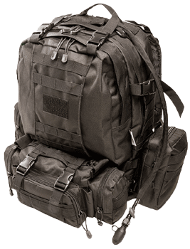 Monkey Paks Tactical Backpack Bundle with Hydration Water Bladder