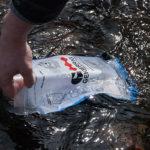 stream water in hydration bladder