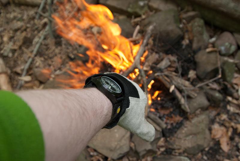MTM Hypertec Crono watch on my wrist over fire