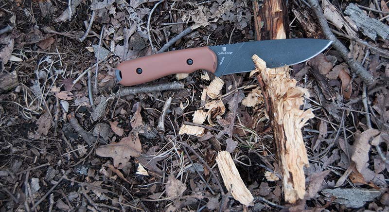 Schrade42D Knife used to make kindling