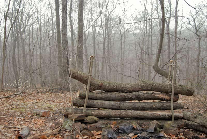 A-Frame Stick Shelter