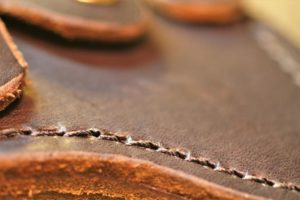 H&B Forge Medium Hawk leather closeup
