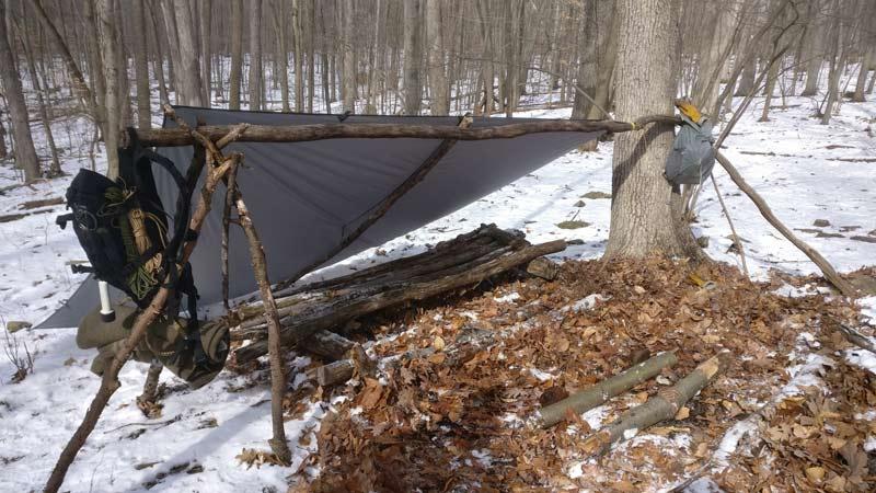 leanto survival shelter