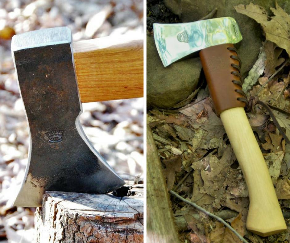 image of axe and hatchet
