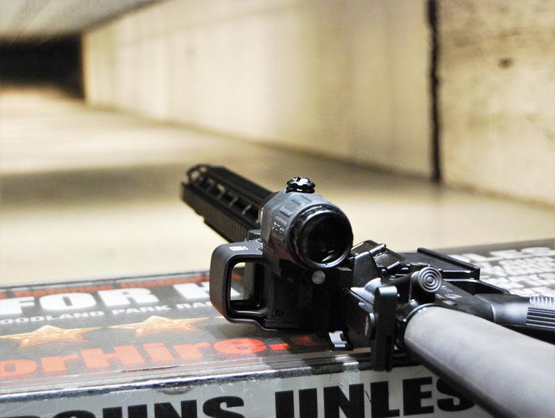 Hardened Arms heat shield on a AR-15